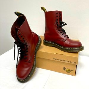 NWT Dr. Martens 1460 Cherry Red Boots